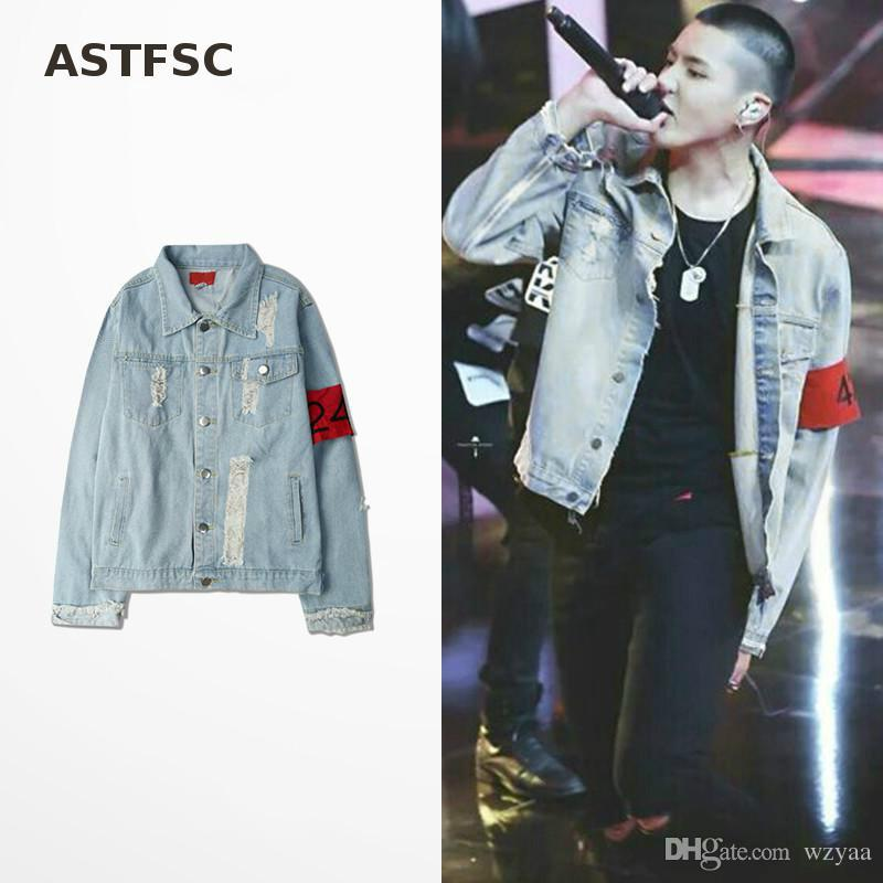 424 Retro Destroyed Washing With Zipper Denim Jacket To Do The Old ...