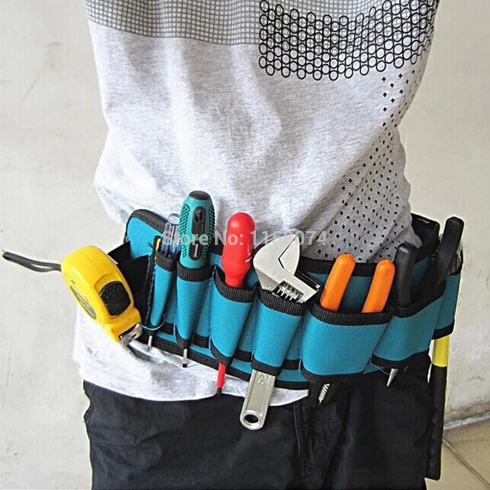 tool belt. 2018 wholesale electricians tool belt repair pouch electrician pockets waist bag multifunctional waterproof carpenter canvas from brendin