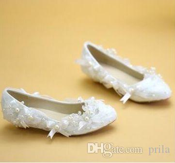 Low Wedges Heel Plus Sizes Wedding Shoes Sh086 White Flowers Pearls Bow  Bowtie Wedding Shoes Caparros Bridal Shoes Clearance Bridal Shoes From  Prila, ...