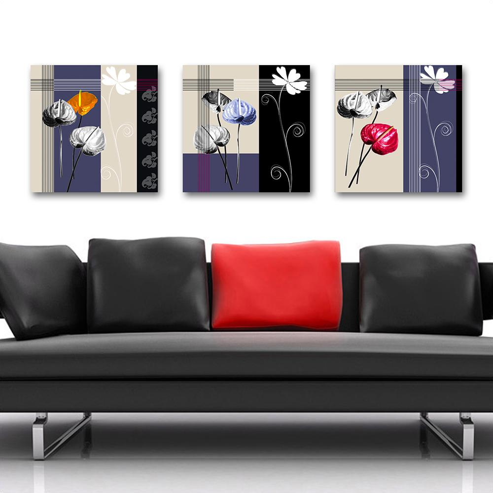 2018 Blue Abstract Fleur Vase Paintings Home Decor Canvas Picture ...