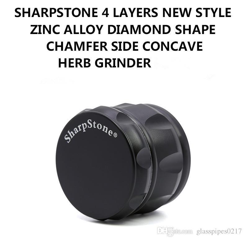 Sharpstone 63 мм Измельчитель цинкового сплава Металлическая табачная дробилка 4 части ромбовидной травяной дробилки
