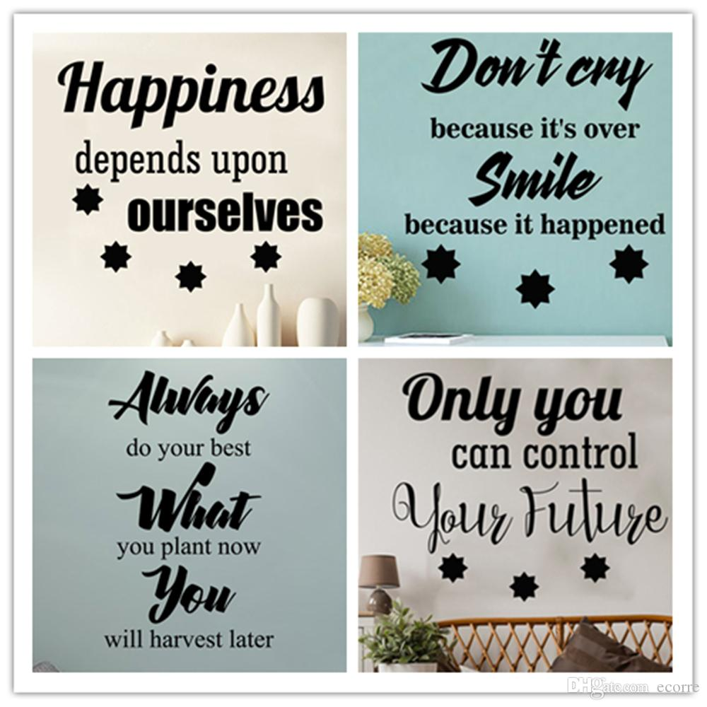 Perfect Happiness Wall Decal Inspirational Wall Sticker Words Quote Smile Decals  Vinyl Removable Wall Sayings Nursery Stickers Decor Wall Decal Adhesive Wall  Decal ...