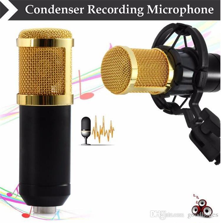 BM - 800 Dynamisches, professionelles, verkabeltes Kondensator - Aufnahmemikrofon Sound Studio mit Shock Mount für das Aufnahme - Kit KTV Karaoke