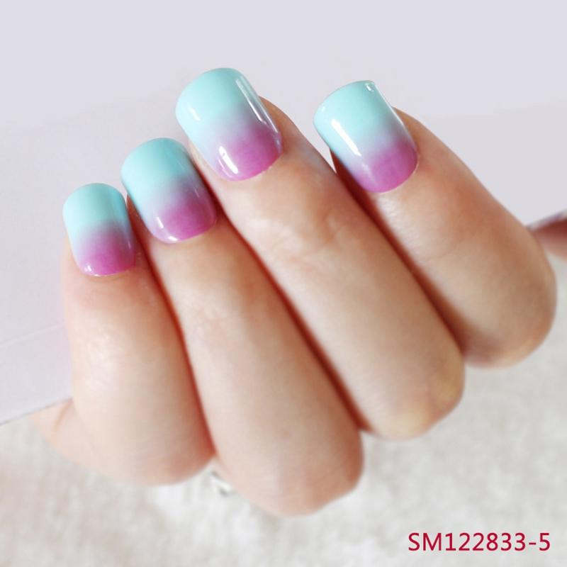 Wholesale Hot Sell Acrylic False Nails Pre Designed Nails Gradient