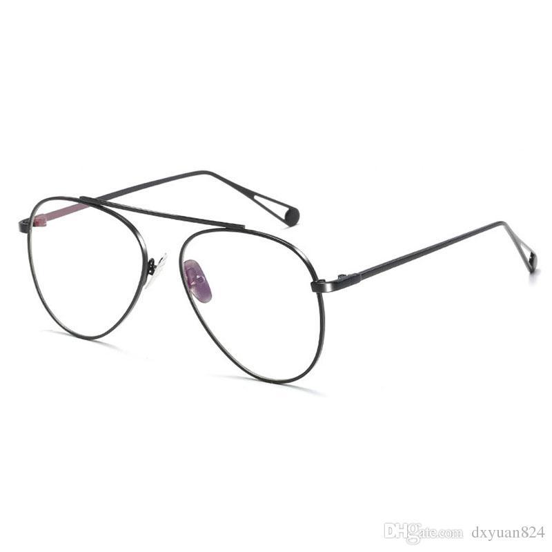 207f38747149 2019 D.King New Vintage Full Rim Metal Frame RB Retro Optical Glasses Retro  Fashion Oversized Clean Lens Eyewear Globe Pilot Glasses From Dxyuan824