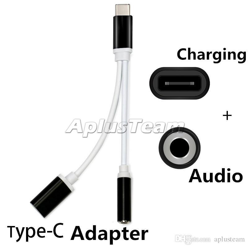 2 in 1 3,5 mm Audiokabel Konverter Kopfhörer Kopfhörerbuchse Adapter Splitter Anschlusskabel Aux Für Typ C Ladekabel