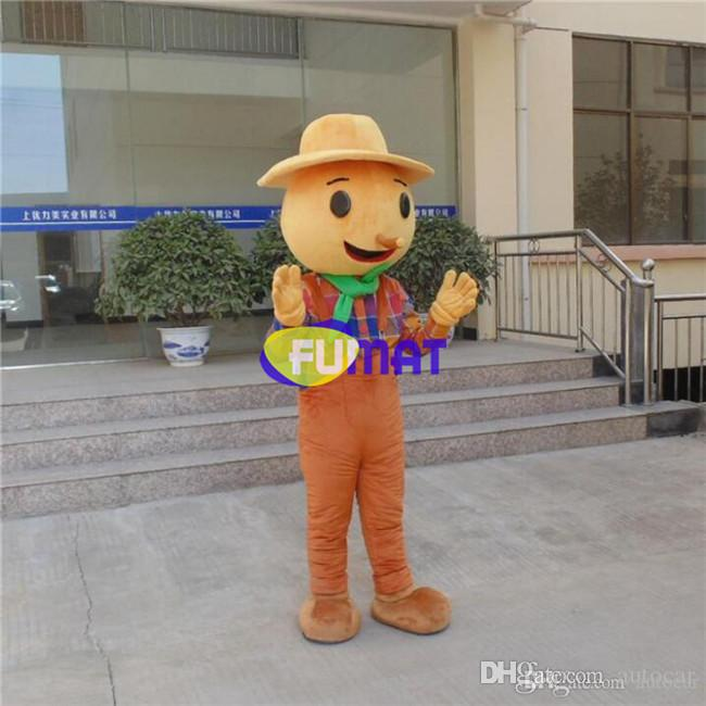FUMAT Mr Puppet Mascot Costumes Cartoon Character Party Fancy Dress Factory Outlet Mascotte di taglia adulto con ventaglio Personalizzazione dell'immagine