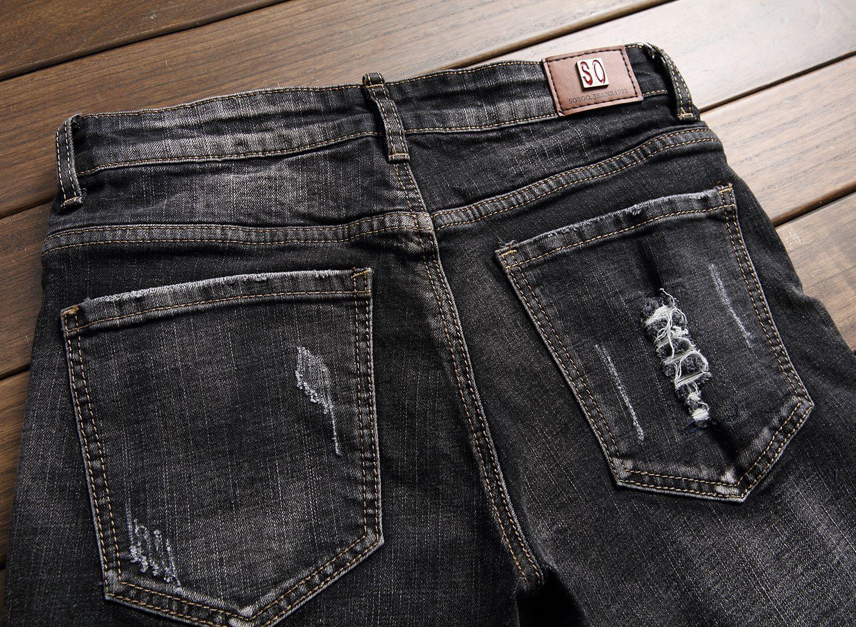 2017 batı tasarımcı moda erkek kot pantolon pamuk yüksek kaliteli rahat kot pantolon marka lüks Düz erkek kot