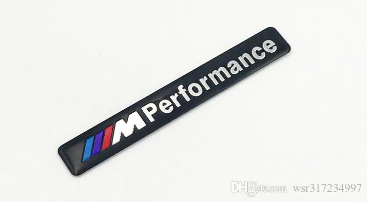 Commercio all'ingrosso / Nuova lega di alluminio 3D /// M prestazioni Badge Emblem adesivo corpo 85mm * 12mm car styling