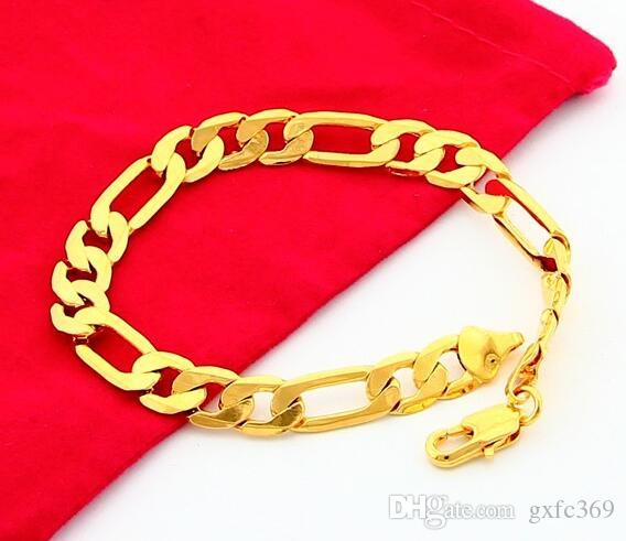 2018 18 K Gold Jewelry Plating Personality Man Cool Bracelet 8 Mm