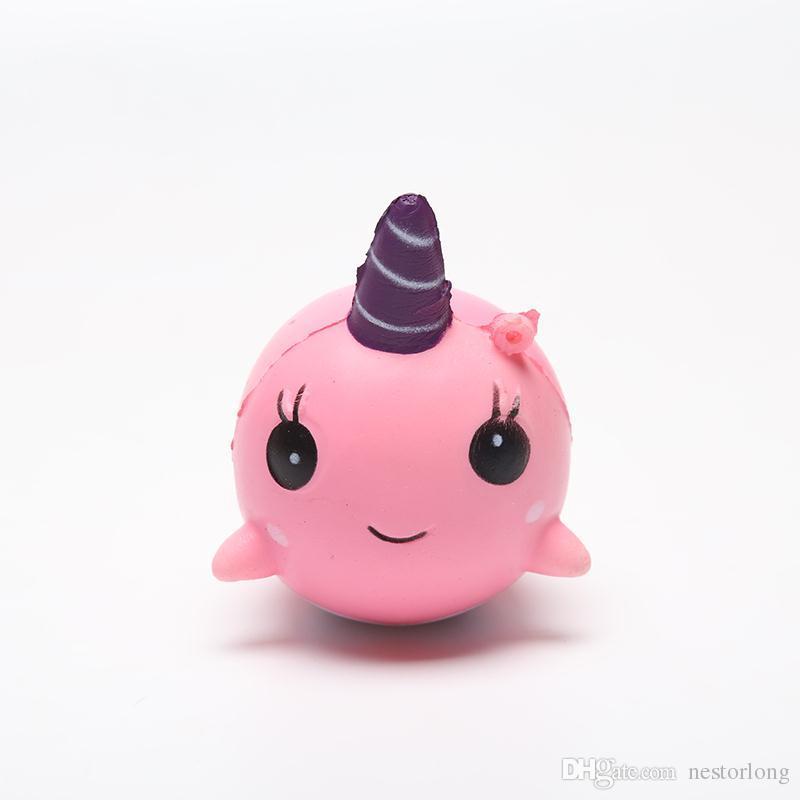 8 cm unicornio Squishy Toys para niños Squishy de crecimiento lento Finger Doll jumbo squishy unicorn ballenas Toy Stretchy Animal Healing Stress Paste Paste