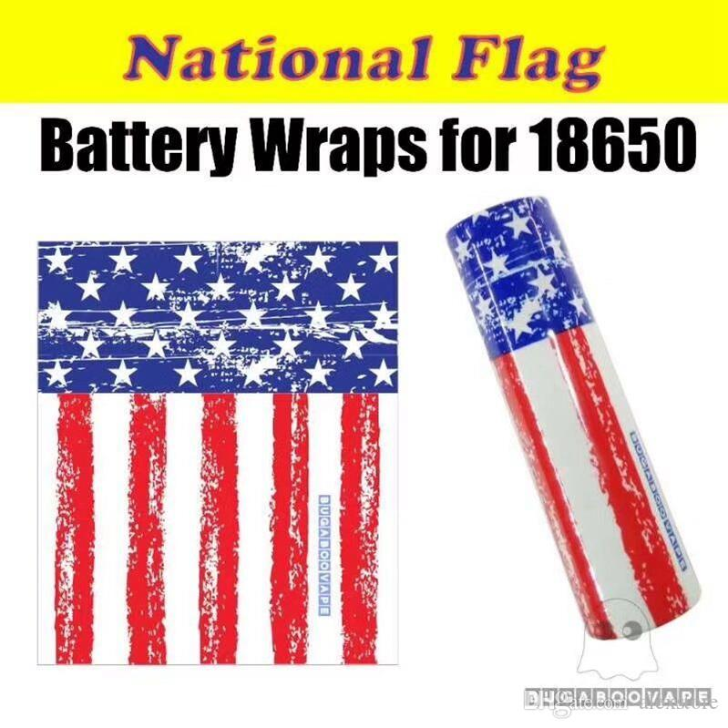 National USA Flag Vaping Proverbs Skeleton Skull Army 18650 20700 Battery PVC Skin Sticker Vaper Wrapper Cover Sleeve Heat Shrink Wrap Vape