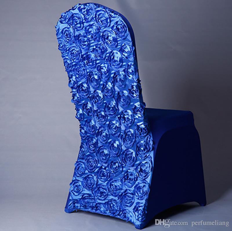 Commercio all'ingrosso elastico casa poliestere spandex 3d rosa sedie da sposa universale banchetto pieghevole hotel meeting sedia gonna decorazione jf-613