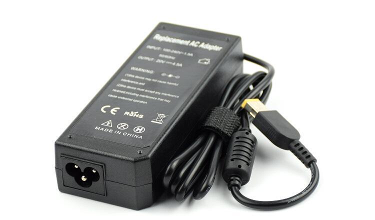 Wysokiej jakości adapter AC Laptop 20 V 4.5A 90 W Żółty Poradnik prostokątny z pin do Lenovo