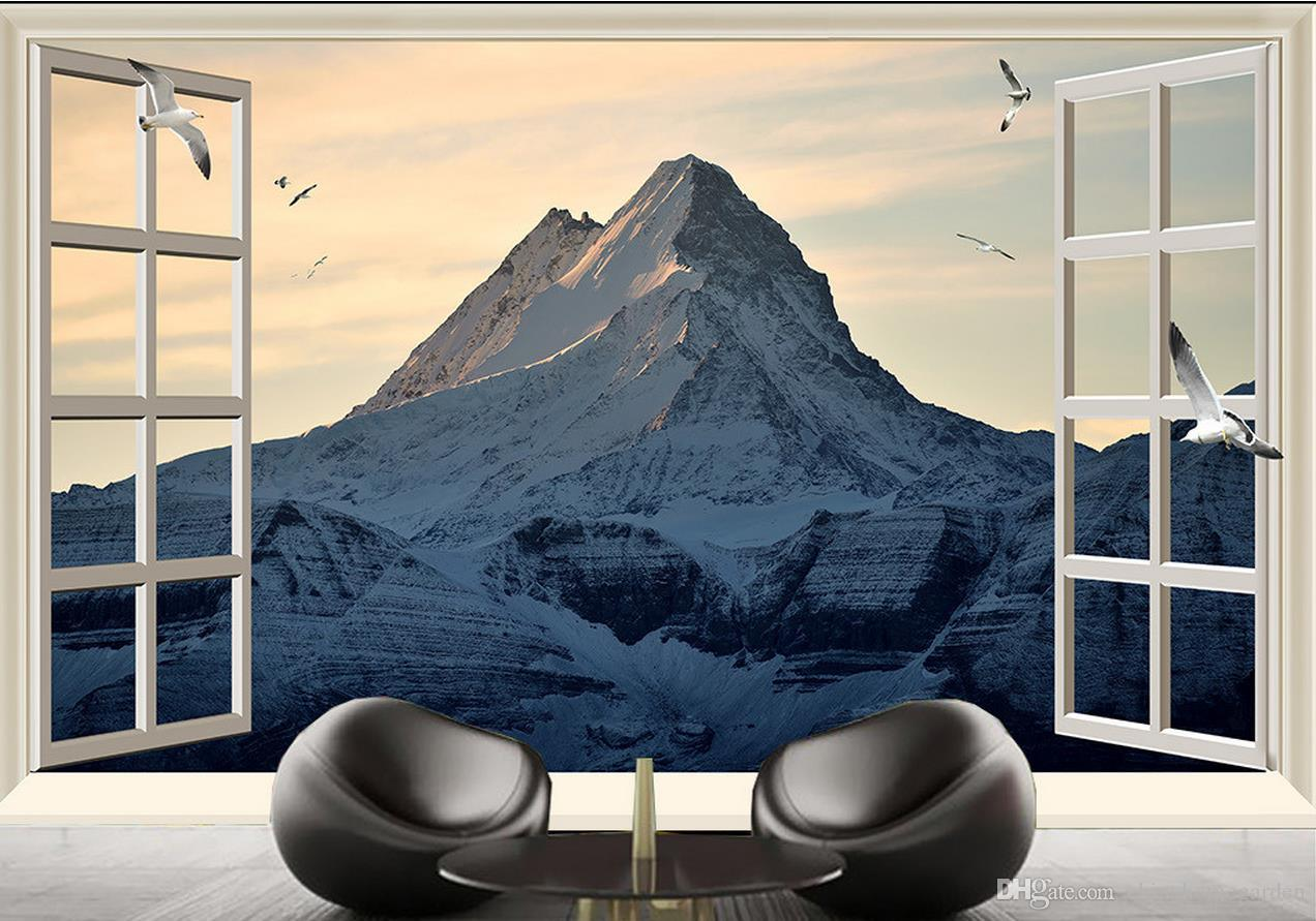 Snow mountain beautiful high definition scenery tv background wall 52 amipublicfo Gallery