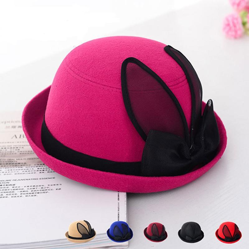 New Spring Autumn Winter Wool Women Top Hats Fashion Felt Trilby Hat ... 52ade74cc85