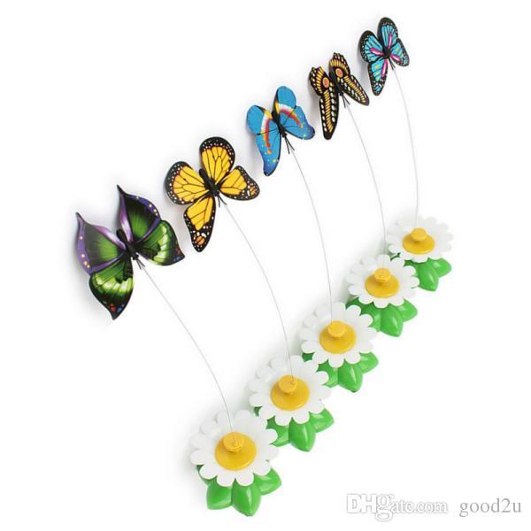 Игрушки для кошек Электрический Вращающийся Красочный Бабочка Забавный Сиденье Для Животных ScratchToy Для Кошек Котенок 8 х 5.5 см