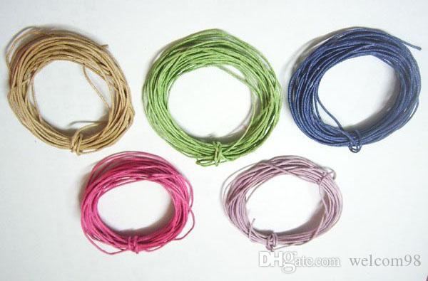 50 Yards / 1mm Mischfarben Baumwolle Wachsschnur Für DIY Handwerk Schmuck Erkenntnisse Komponenten WC0 Kostenloser Versand