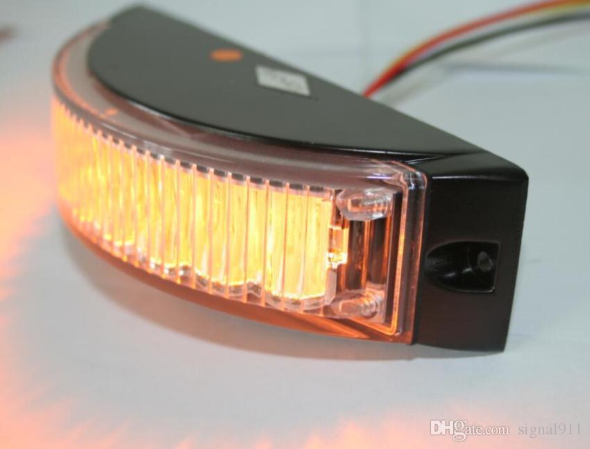 DC12V/24V 8W car surface mounting warning light,Grill lights,Led strobe light,19flash,waterproof,/1lot