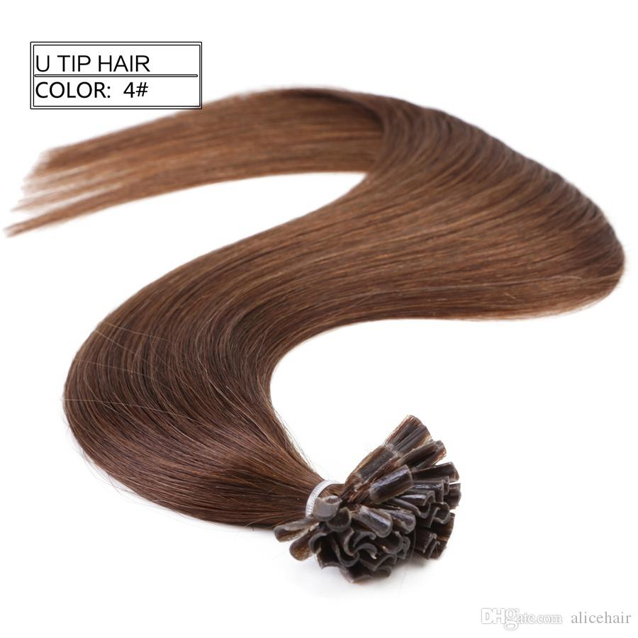 Neitsi 16 Keratin U Tip Hair Extensions 100 Indian Remy Fusion