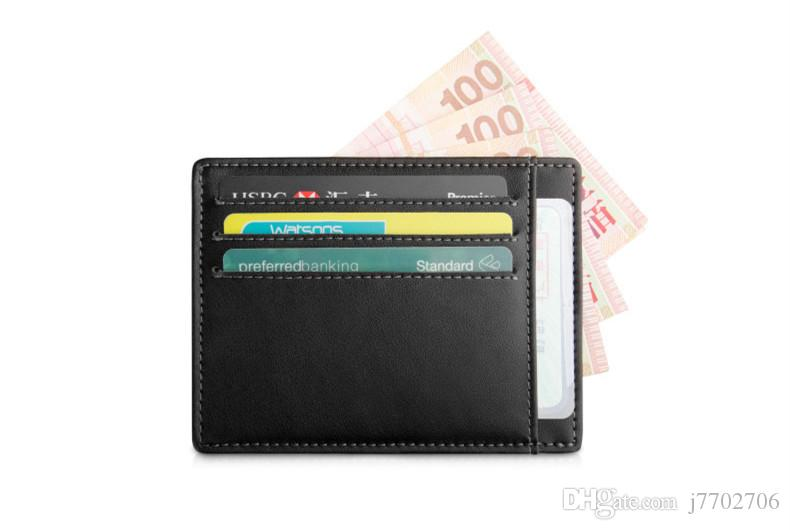 Genuine Leather Credit Card Holder Drivers License Wallet High Quality id Card Case for Travel 2017 New Business Men Slim Card Soft
