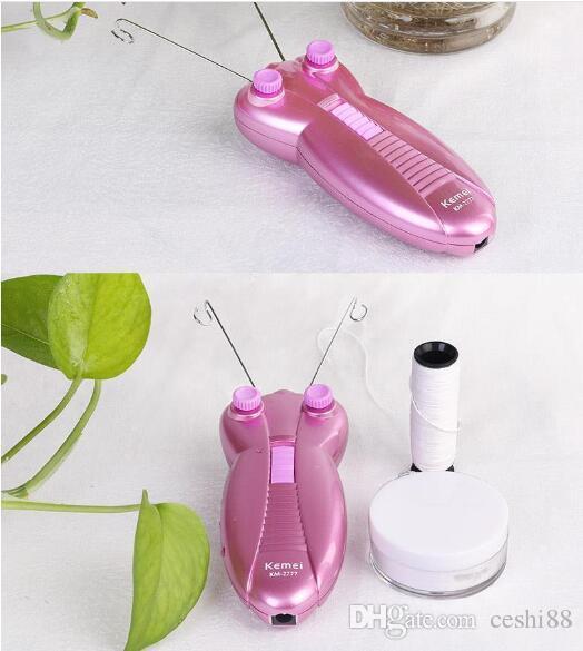 Gratis frakt! Keda Body Facial Hair Remover Electric Face Cotton Thread Defeather Epilator Shaver KD-192