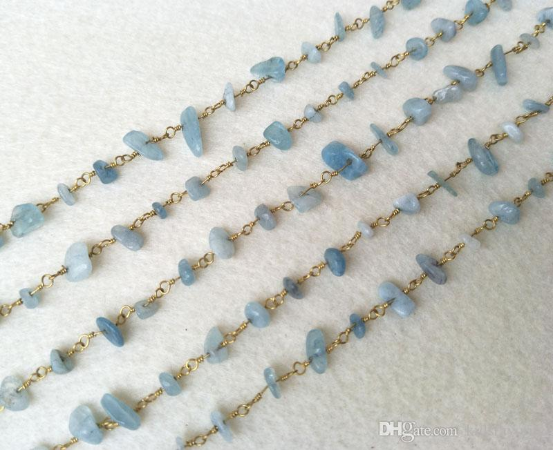 Natural Stone Crystal Chips Jewelry Finding Necklace Chains,Gold Color DIY necklace bangle jewelry making LZ24