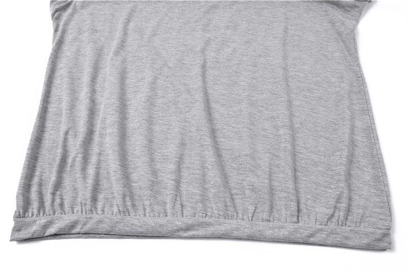 العلامة التجارية أزياء تي شيرت للمرأة تصميم فضفاض تي شيرت بلون قبالة الكتف ملابس النساء تي شيرت المحاصيل قمم الملابس التي شيرت NV54 RF