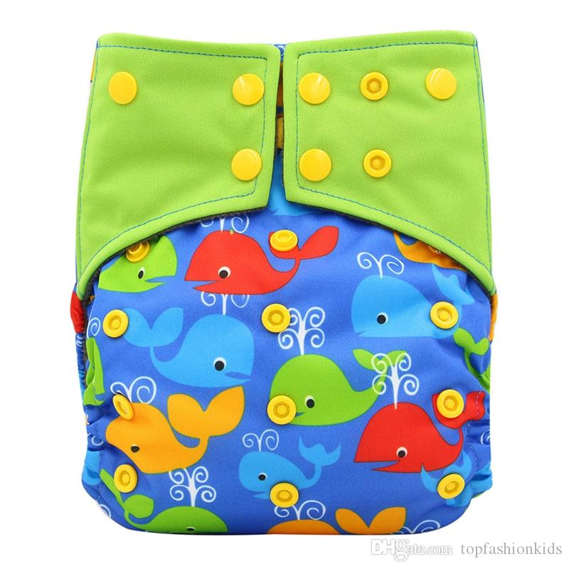Waterproof Baby Diapers Cover Newborn Pocket Diaper Size Adjustable Reusable Baby Nappies Bamboo Potty Training Pants