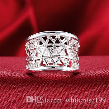Wholesale  - 小売価格最低価格クリスマスプレゼント、送料無料、新しい925銀ファッションリングR032