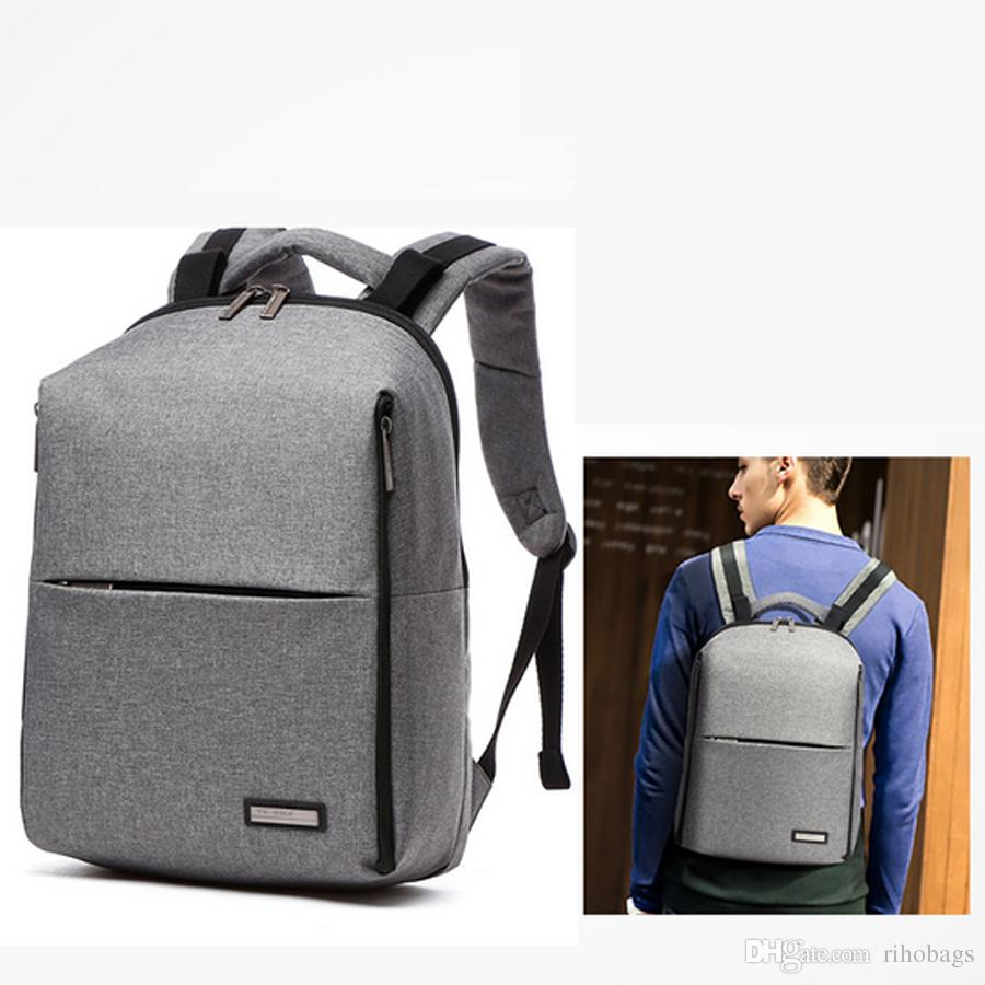 9fe8c36535f7 2019 High Quality Mens Waterproof Canvas Work Bag Travel Bag 14 Inch Laptop  Backpack  5 From Rihobags