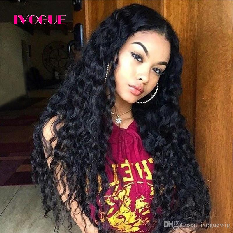 Loose Curly Lace Front Human Hair Wigs Virgin Brazilian Unprocessed Remy Human Hair Full Lace Wig Curly For Black Women