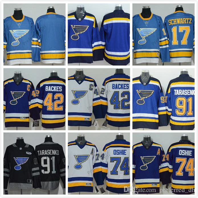 2019 2017 Winter Classic St. Louis Blues Hockey Jerseys 91 Vladimir  Tarasenko 17 Jaden Schwartz 27 Alex Pietrangelo 22 Kevin Shattenkirk Jersey  From ... fd3be8319
