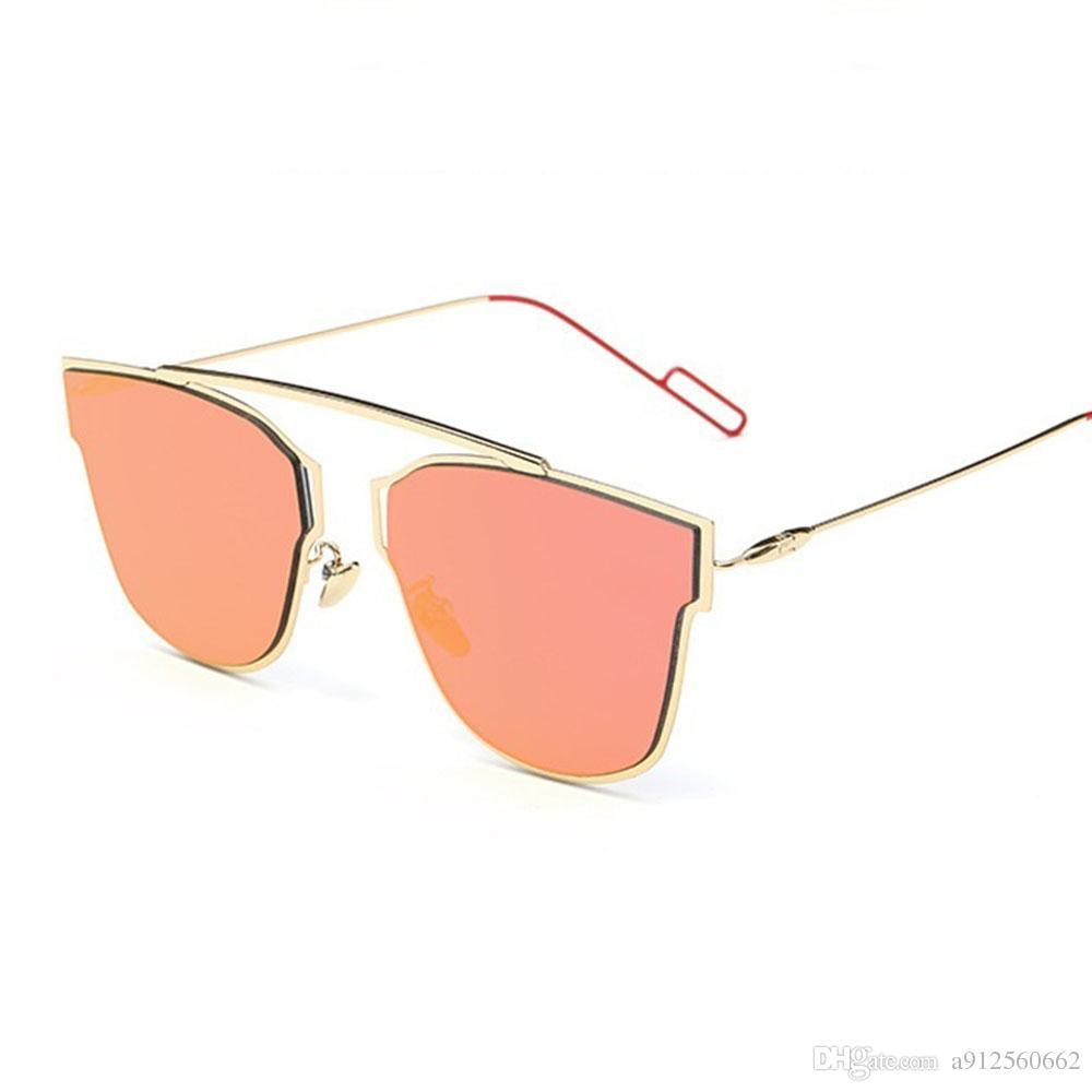35e8e288d7 Compre Colorfun Cateye Lady Gafas De Sol Luxury Pink Mirrors Gold Gafas De  Sol Diseñador De La Marca Mujeres Accesorios De Moda Hombres Gafas Uv400  Shades A ...