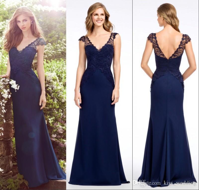 Vestidos dama de honor azul oscuro