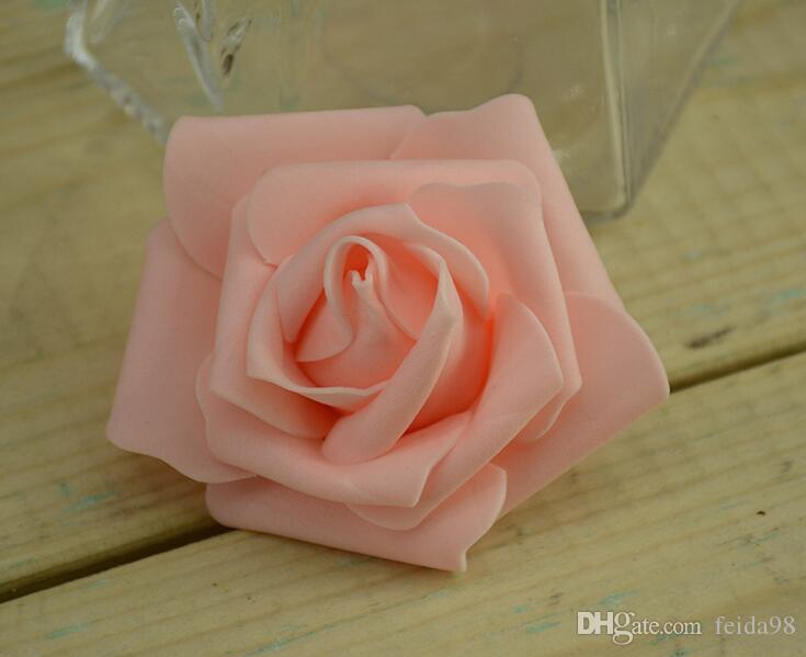7cm kunstmatige schuim rozen bloemen voor thuis bruiloft decoratie scrapbooking pe bloem hoofden kussen ballen multi kleur g57