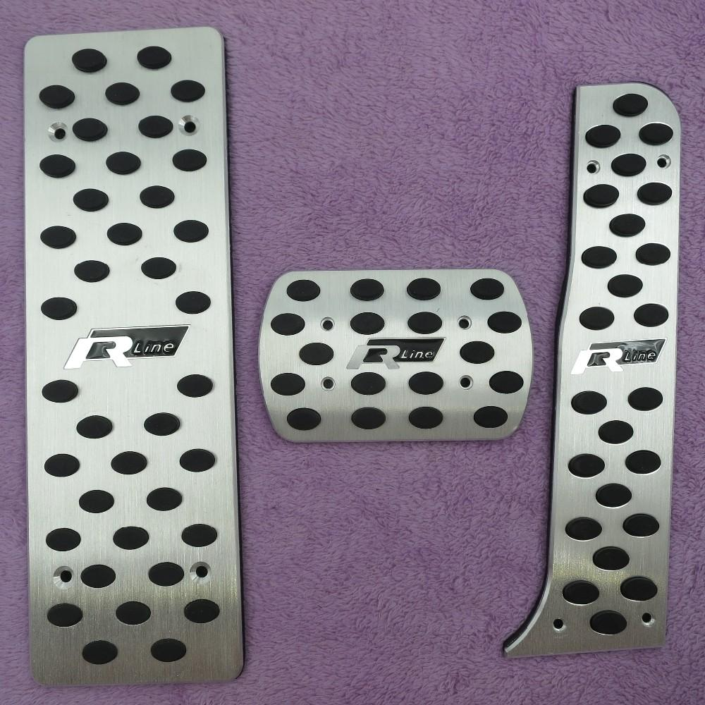 Accessories For VW Golf 5/Golf 6/Jetta MK5/Scirocco/Sharan/Tiguan/CC/Passat B6 Aluminium Foot Rest Gas Rline Pedal Pad car Cove 02