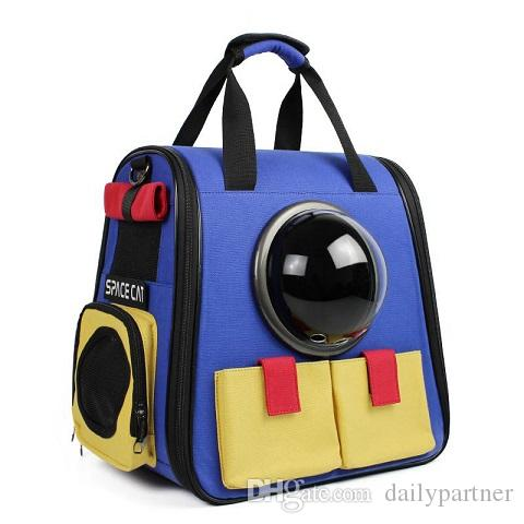 2018 New Cut Portable Astronaut Capsule Breathable Pet Cat Dog Puppy Travel Bag Space Backpack Carrier From Dailypartner 25126
