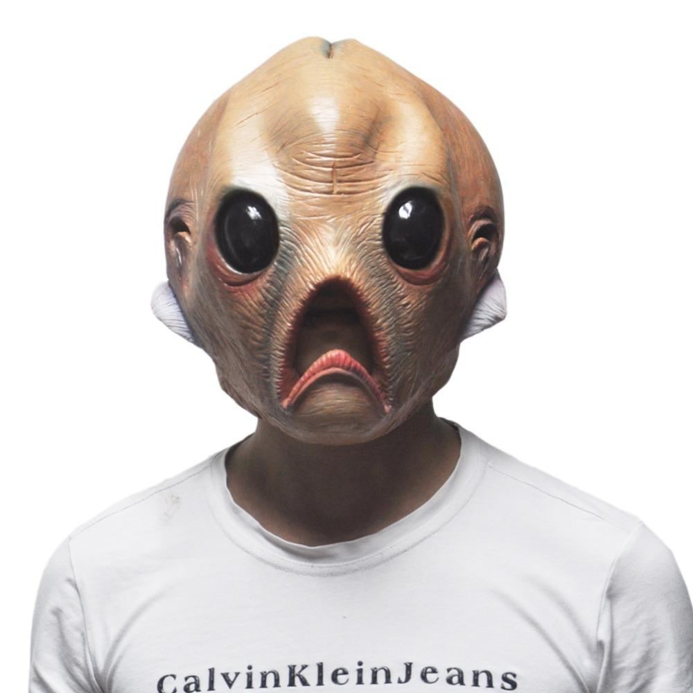 Wholesale Scary Silicone Face Mask Alien Extra Terrestrial Party ...