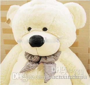 도매 싼 뜨거운! 자이언트 80/120 큰 봉제 테디 베어 거대한 부드러운 100 % 코튼 장난감 * 4 색 흰색, 갈색, 밝은 갈색, 핑크