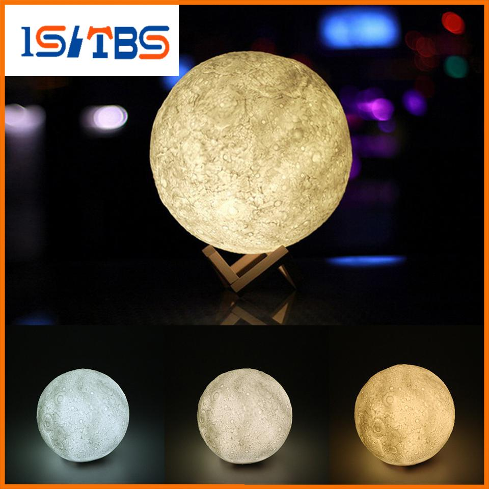 Best 3d Magical Moon Led Night Light Moonlight Desk Lamp Usb ...
