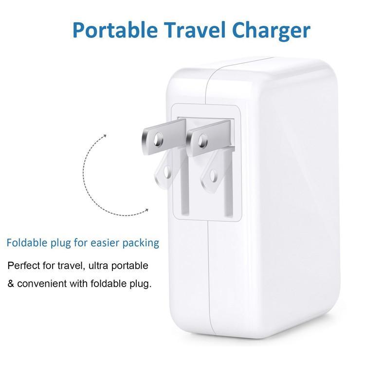3.1A 15W ad alta velocità 4 porte USB caricatore da parete caricabatteria da viaggio portatile con spina pieghevole iPhone 7 6s più iPad Android Phone