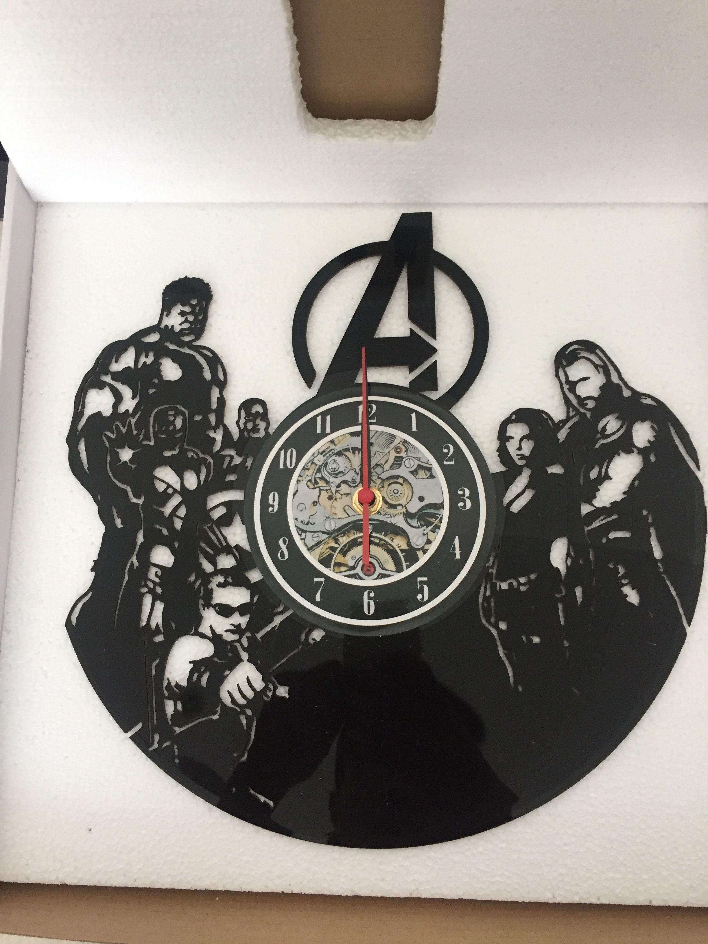 Avengers vinyl wall clock bedroom dcor christmas gift clocks for avengers vinyl wall clock bedroom dcor christmas gift clocks for home clocks for kitchen from dg88090431 2614 dhgate amipublicfo Images