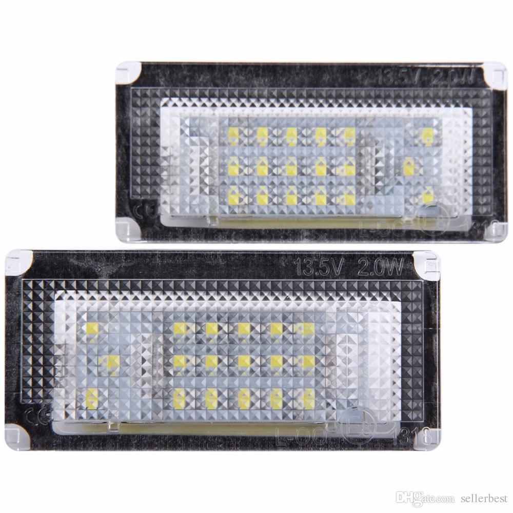 / 12V SMD 3528 Lumière blanche 18 LED Lampe de plaque d'immatriculation pour BMW MINI COOPER S R50 R52 R53 1996 - 2006 Lumière de plaque d'immatriculation automatique