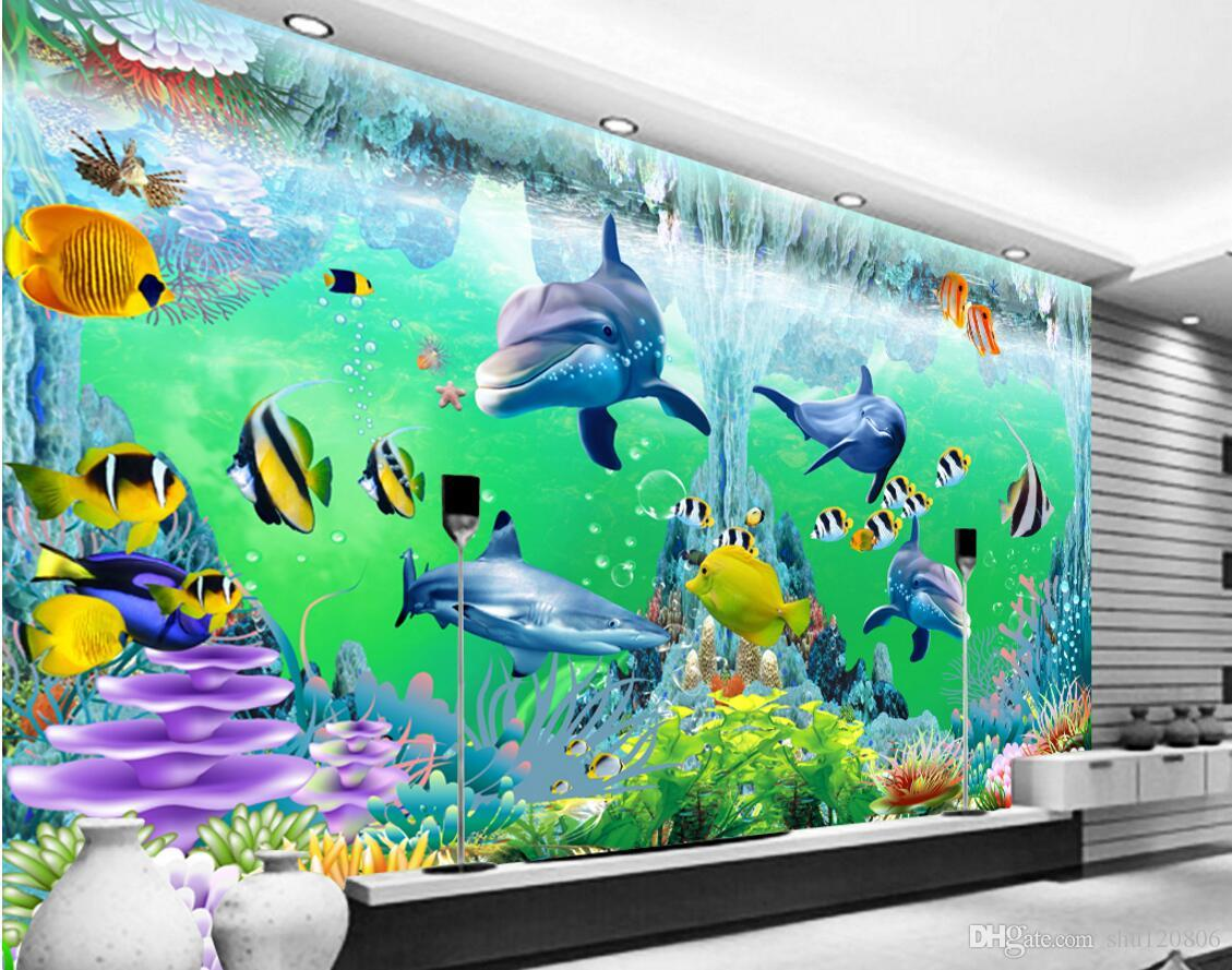 3d room wallpaper custom photo non woven mural ocean corals 3d room wallpaper custom photo non woven mural ocean corals dolphin fish decoration painting 3d wall murals wallpaper for walls 3 d wallpaper for mobile amipublicfo Images