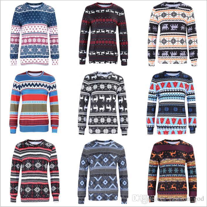 christmas jackets women elk casual coats xmas outwear fashion cardigans female pullover tops long sleeve hoodies print blouse jumper b3460 jackets on sale - Christmas Jackets
