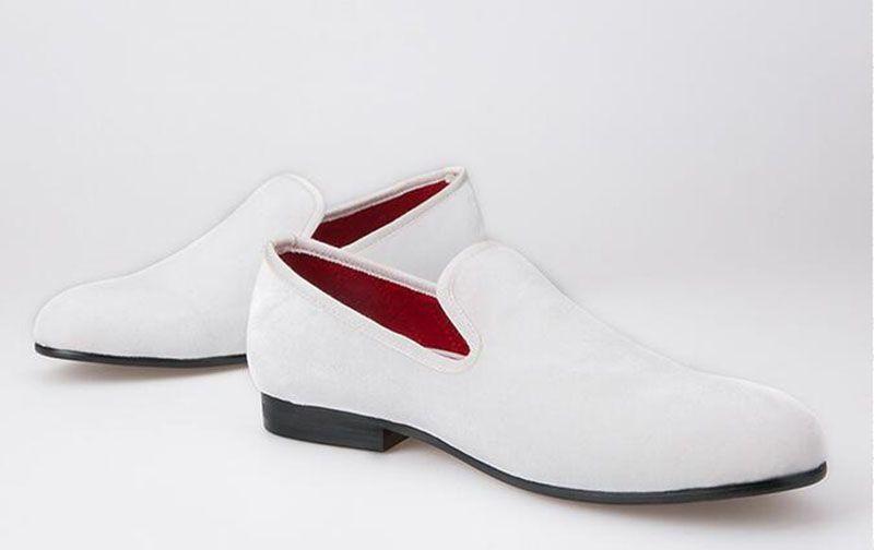 Plus Size und bunte Männer Velvet Loafers Männer Hochzeit und Party Schuhe Männer Wohnungen männlich Rauchen Hausschuhe