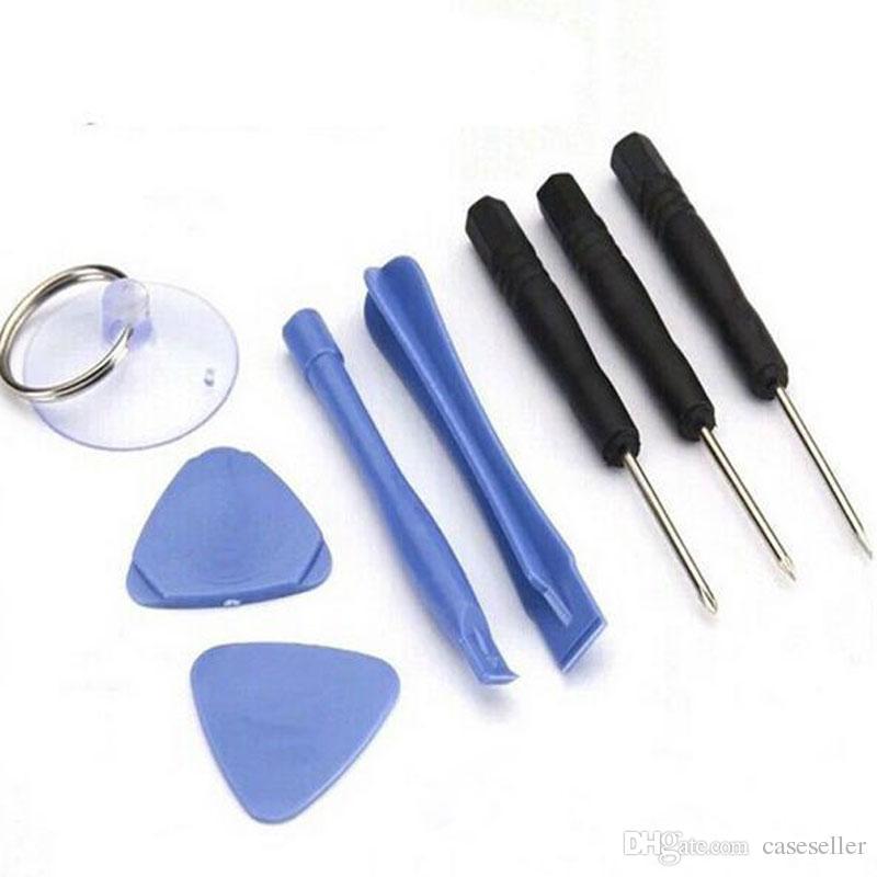 Outils de réparation de téléphone portable 8 en 1 Réparation Pry Kit Outils d'ouverture Tournevis à tête plate Pentalobe Torx Pour iPhone 6 4 4S 5 5s