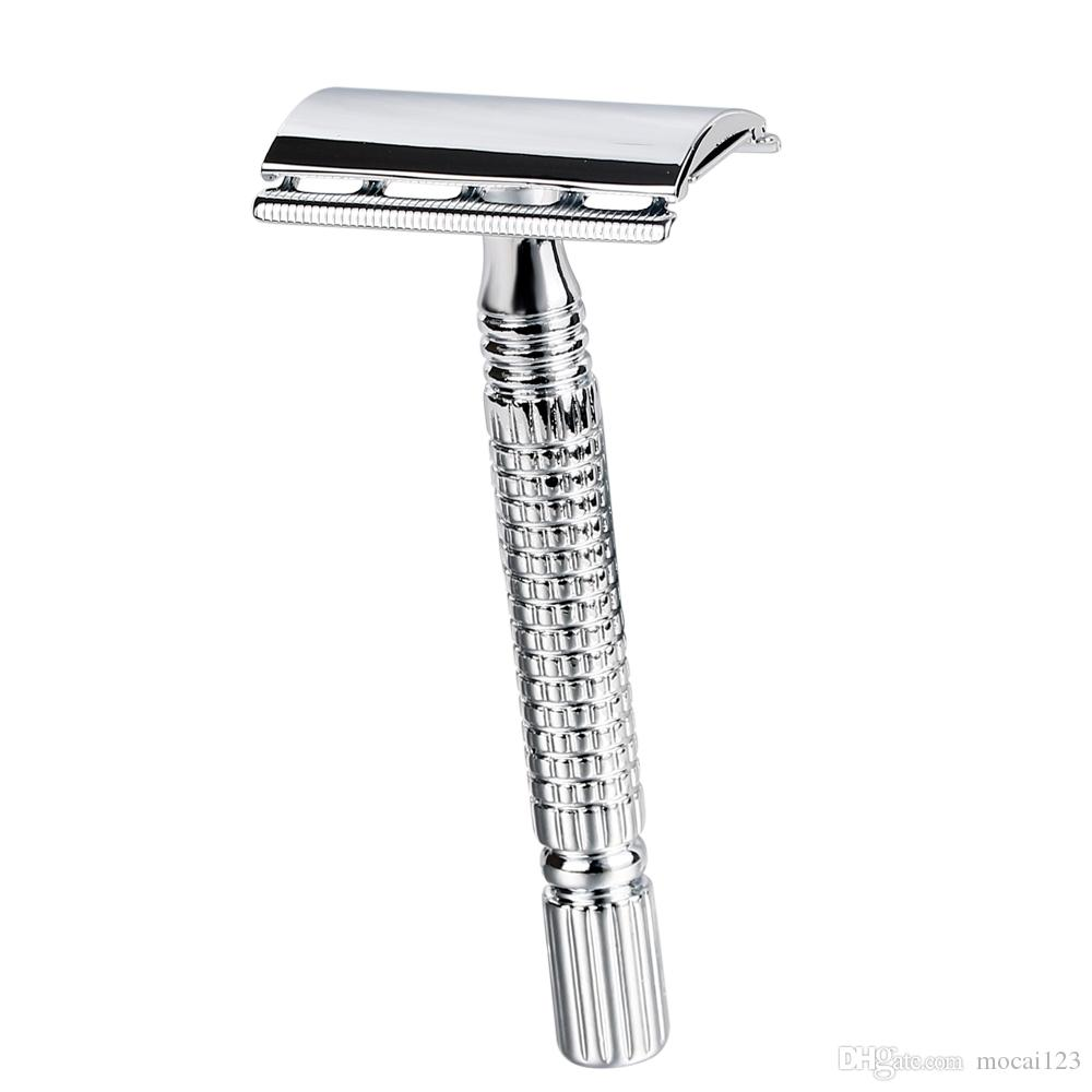 Men shaving Classic Safety Razor Double Edge Copper Alloy Manual Razors Shaver With Travel Package