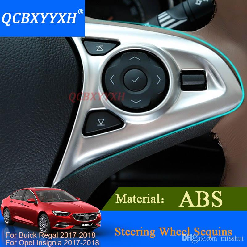 QCBXYYXH 2шт АБС стайлинг автомобиля стикер внутренняя отделка для Buick царственной Опель Инсигния 2017 2018 руль блестки наклейки